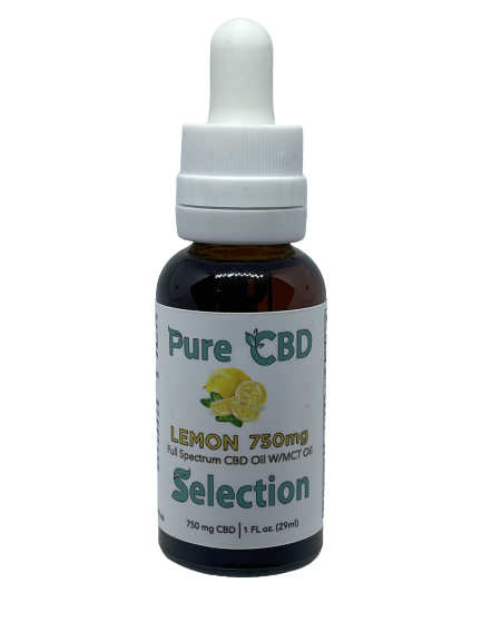 750MG Full Spectrum Lemon W/MCT Oil 1